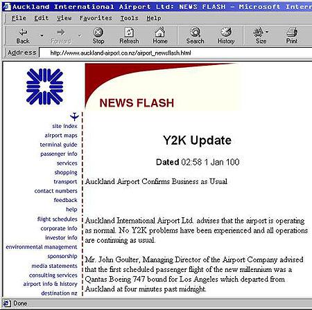 Y2K Advisory