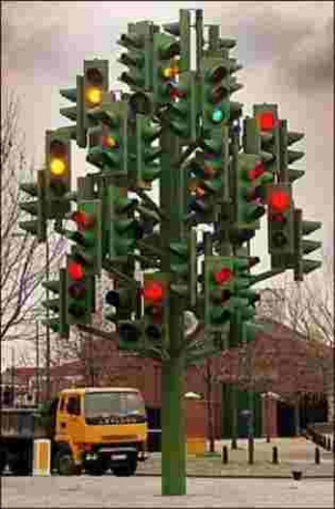 Traffic Christmas Tree