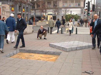 Chalk Sidewalk Hole