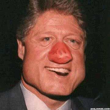bill clinton the clown
