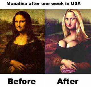 Mona Lisa Americanized