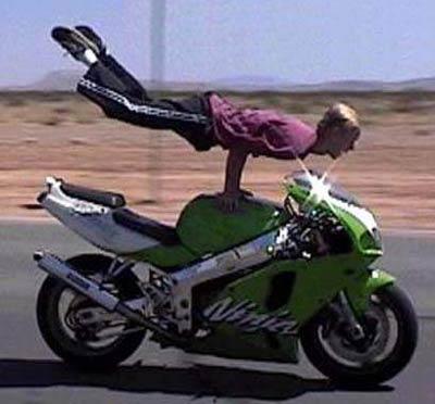 Motorcycle Handstand